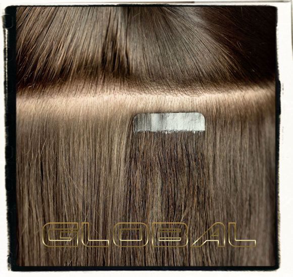 Tape Hair Extensions Application Tape Hair Extensions Pinterest