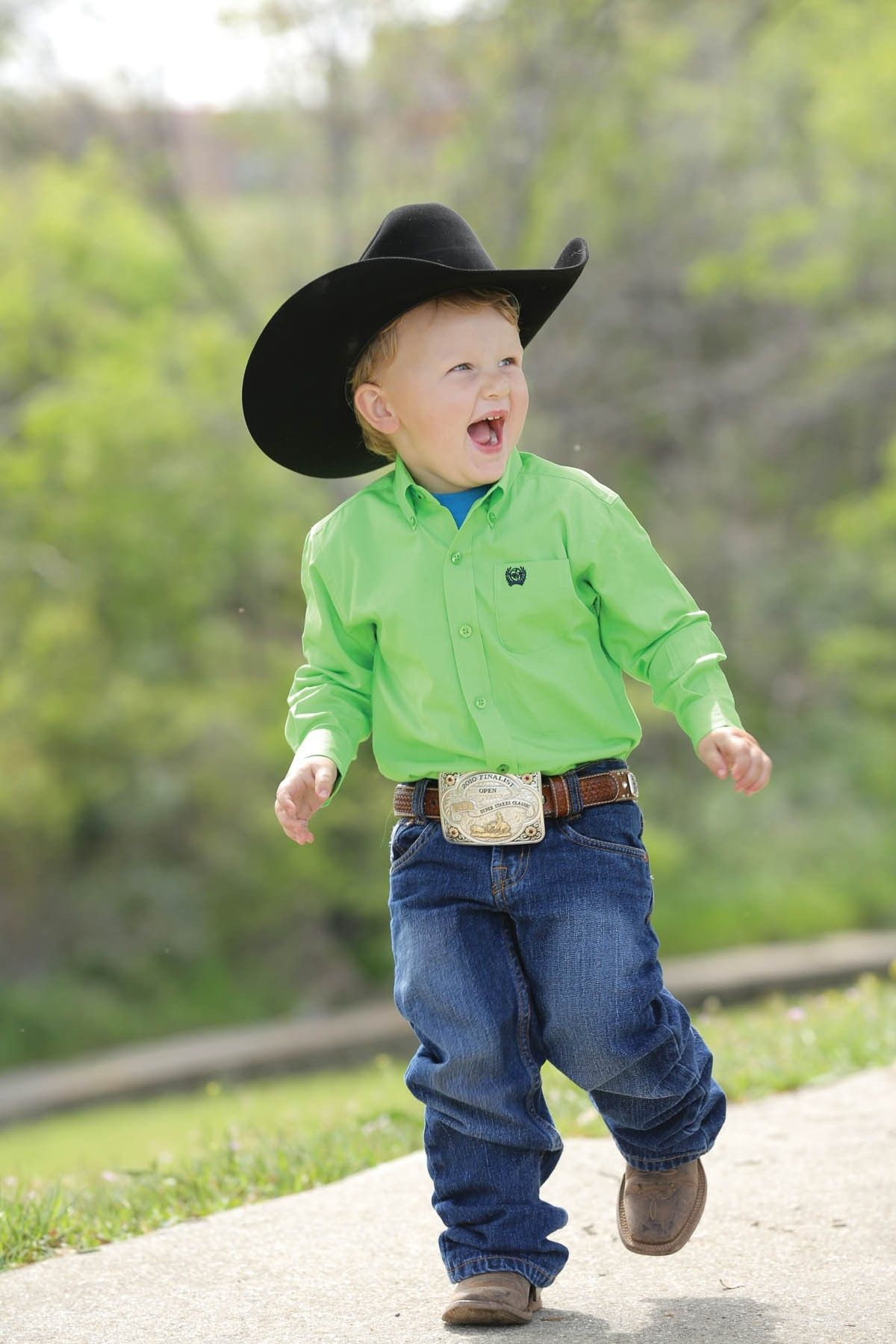 Cinch® Toddler L S Solid Lime Green Button Shirt  fb200ac7c9b0