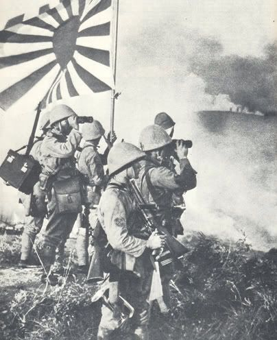 Japanese Holding Their Reformed Japanese Flag Called The Land Of The Rising Sun World War Two Wwii Japan History