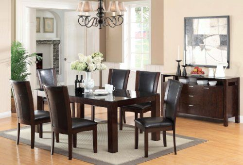 Furniture of America Renolds 7-Piece Dining Table Set with 10mm