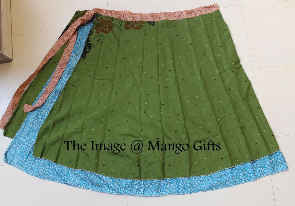 Wholesale Lot 5Pc Vintage Silk Sari Recycled Wrap Around Skirts Reversible Dress #Unbranded #SkirtSet