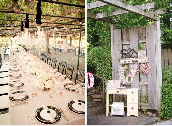 Table de mariage sous une pergola (avec images)   Diner romantique, Pergola, Deco table