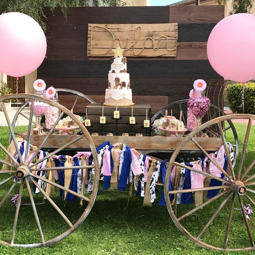 """96 Likes, 1 Comments - Platinum Candy Buffets (@platinumcandybuffets) on Instagram: """"Dylan's 1st Rodeo @therealcamillap  Prop Rentals @platinumproprentals  Cake/Desserts…"""""""