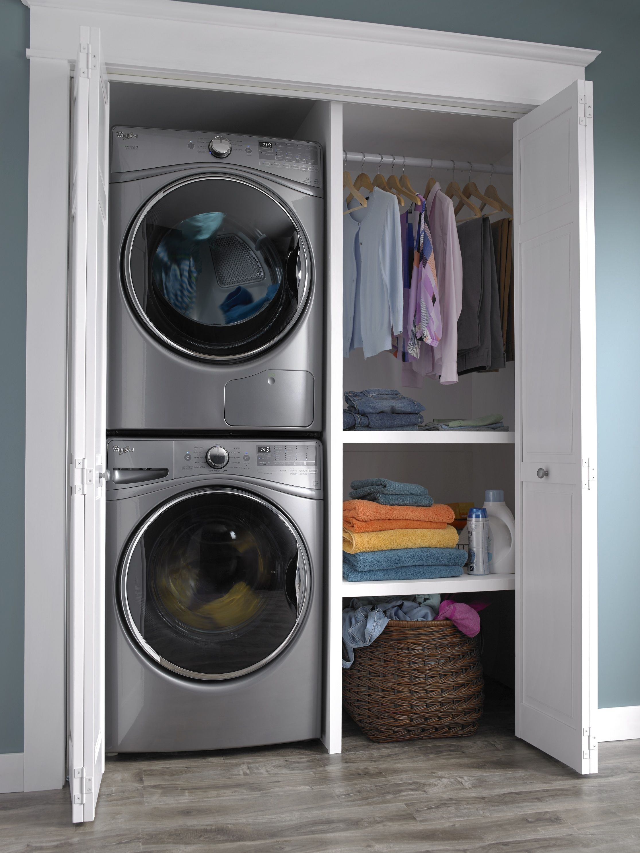 Image Result For Stackable Washer And Dryer In Closet Washer