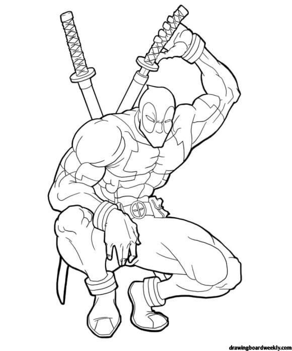 Coloring Pages Deadpool Avengers Coloring Pages Superhero Coloring Pages Deadpool Drawing