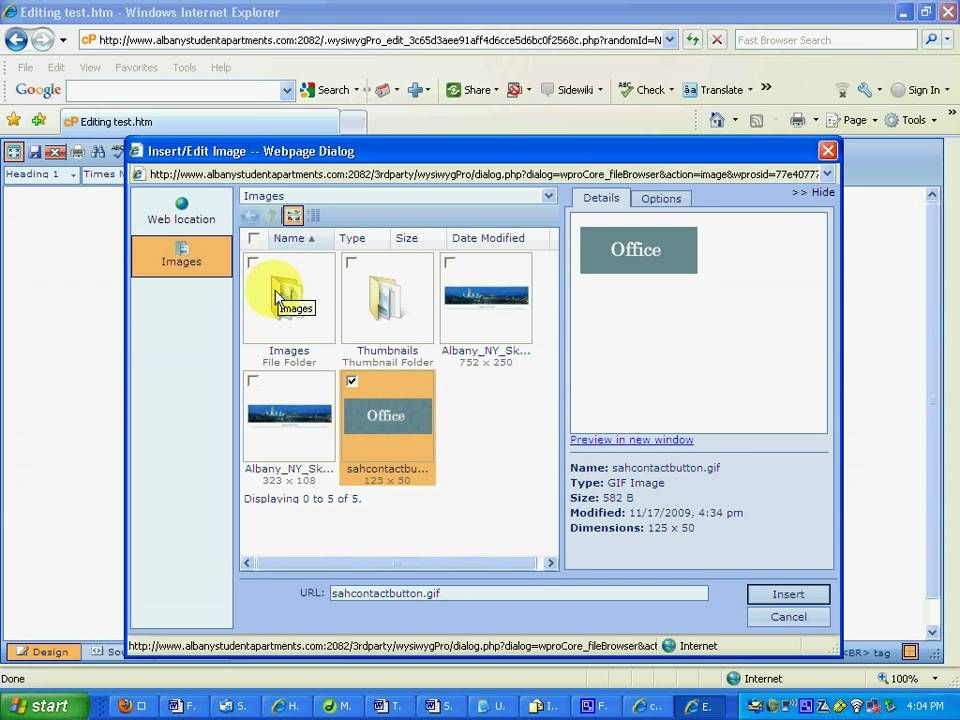 How to add and edit webpages and upload images via cpanel