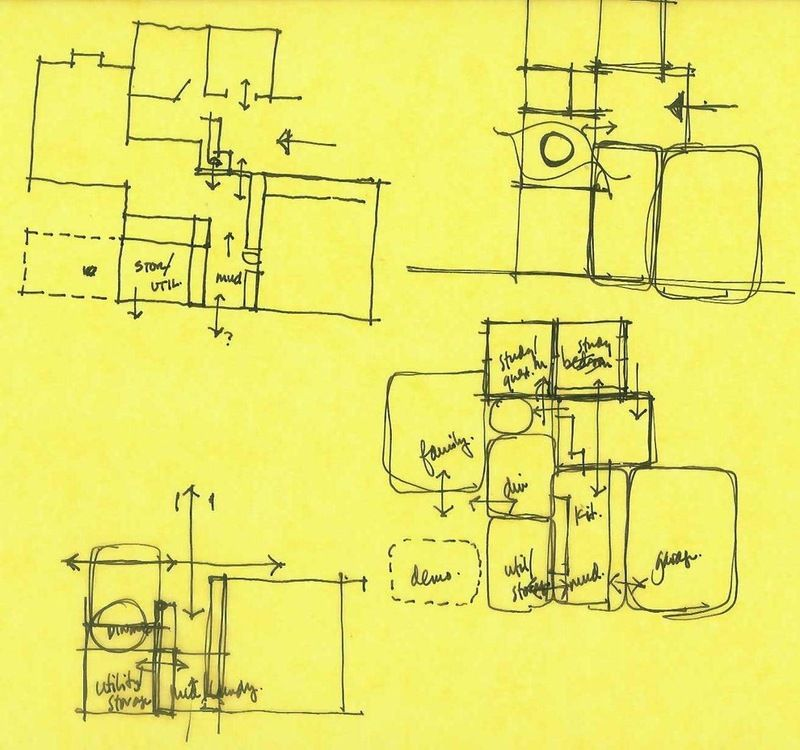 Architect S Toolbox 6 Drawings On The Way To A Dream Home Schematic Design Floor Plan Sketch Bubble Diagram
