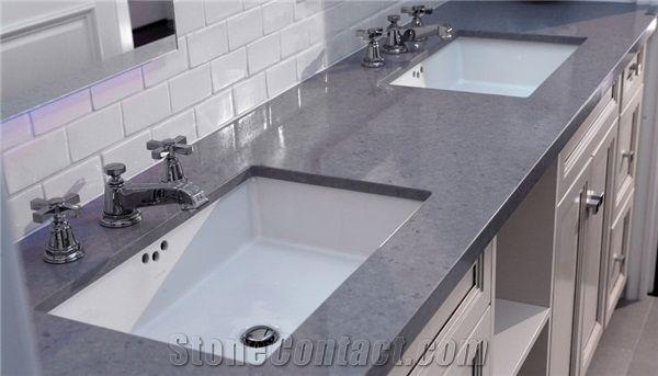 Man Made Quartz Stone Kitchen Countertops Fit For Buildingu0026Flooring  Especially For Reception Countertop,Work Tops,Reception Desk,Table Top  Design,Office ...