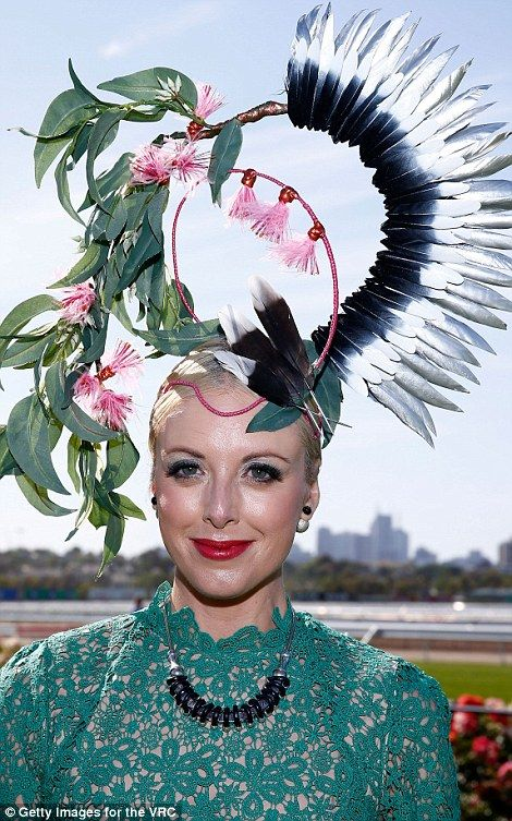 Fascinating fascinators  The punters didn t disappoint when it came to head  wear 0edbd2aeada
