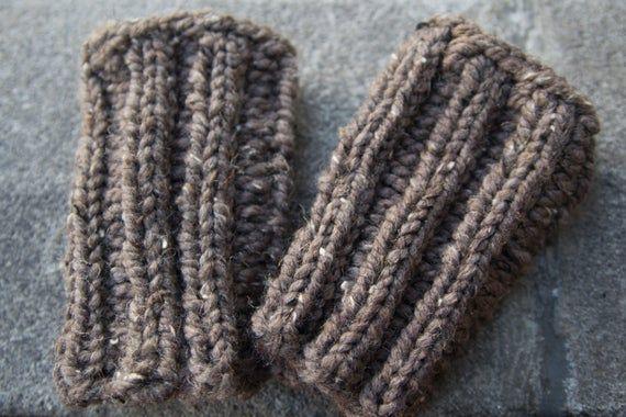 Barley Brown Boot Cuffs - Knitted Boot Cuffs - Legwarmers - Half Sock - Women - Teen Girls - Customize Your Order #bootcuffs