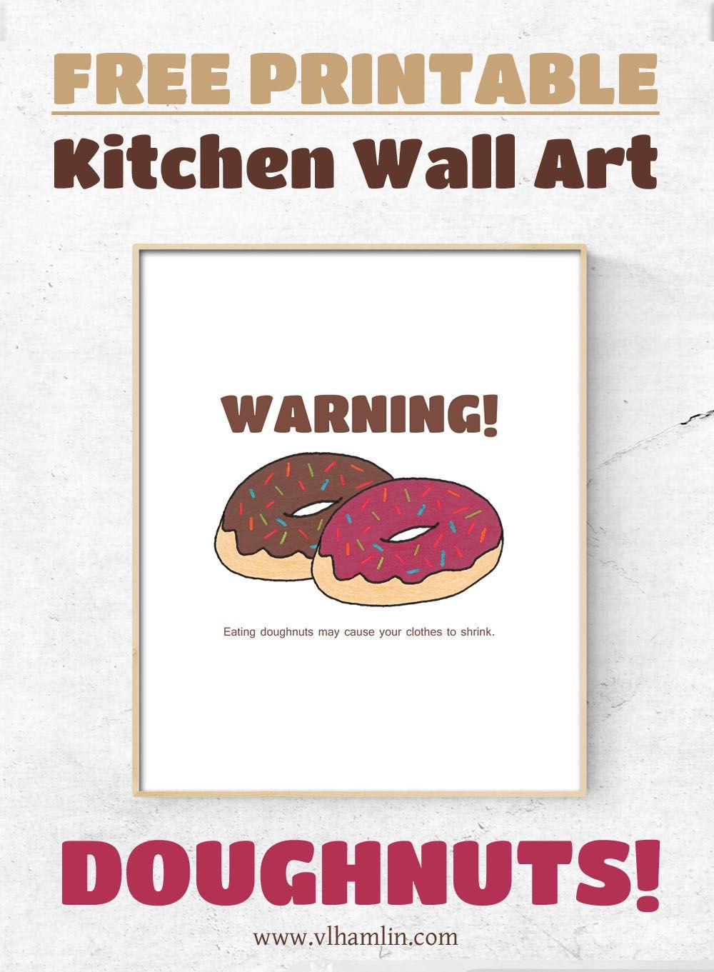 Free printable kitchen wall art doughnuts kitchen wall art and