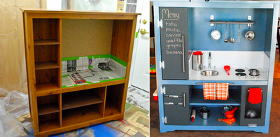 DIY Old Furniture Pieces to Fabulous Play Kitchens