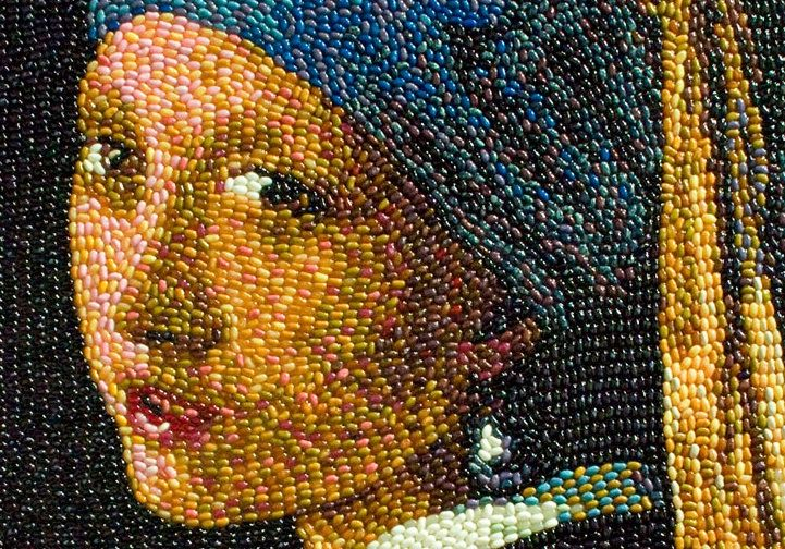 Classic Works of Art Made with Jelly Beans