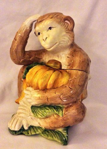 Zanzibar Monkey Cookie Jar Kaldun and Bogle Hand Painted RARE   eBay