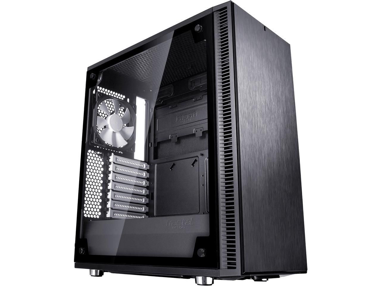 Fractal Design Define C TG Black Tempered Glass Window Silent Compact ATX Mid Tower Computer Case