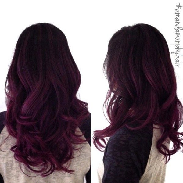 Sultry Dark Magenta Behindthechair Com Hair Styles Purple Ombre Hair Ombre Hair Color