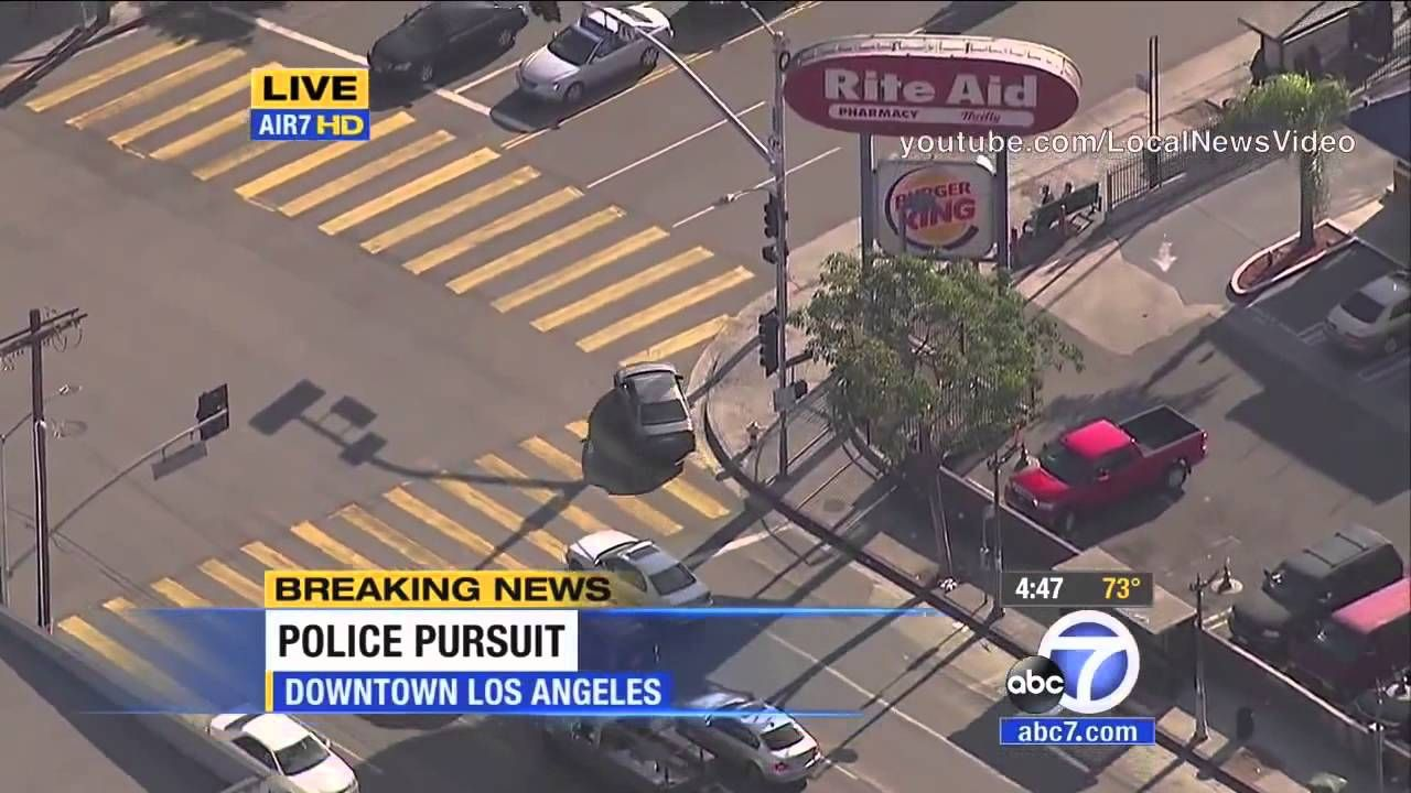 California High Speed Police Chase Stolen Honda Civic