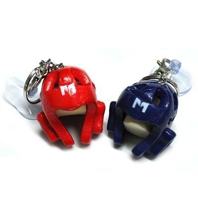 Taekwondo Mini Headgear with Key Chain TKD Souvenir Gift promotion Toy Accessory