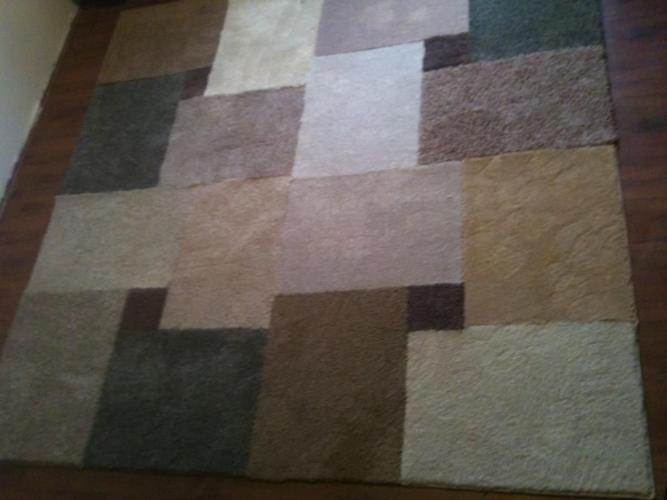 Diy Area Rug For Under 35 You Will Need 17 Pieces Of Carpet Mats 18 X24 Lay The Entire Out First Emble As 4 Section Carpets