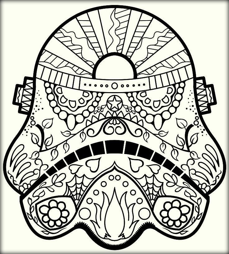 Mexican Sugar Skull Coloring Pages for Adults - Color Zini | Sugar ...