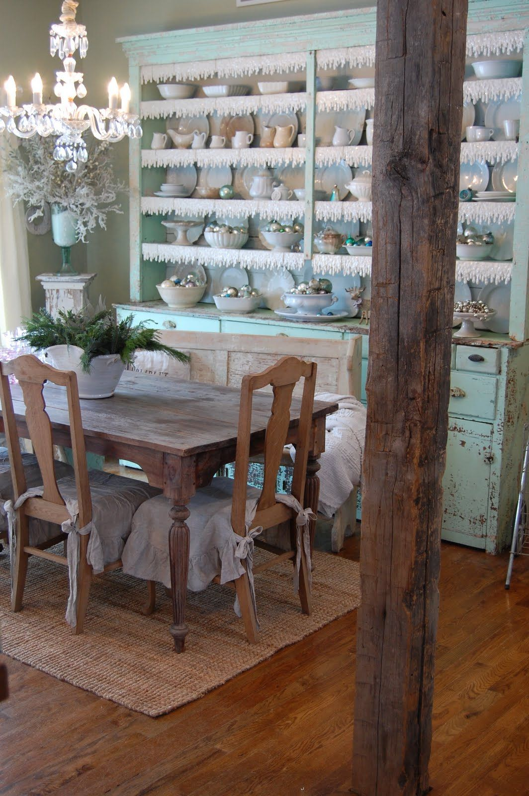Gorgeous cupboard from Urban Farmhouse This looks like a fun place to dine