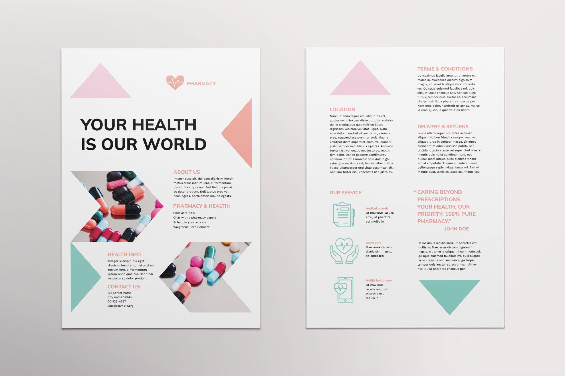 Pharmacy Flyer Double Sided Flyer Flyer Template Flyer