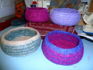 Ravelry: Felted Crochet Bowl pattern by Tess Young #crochetbowl
