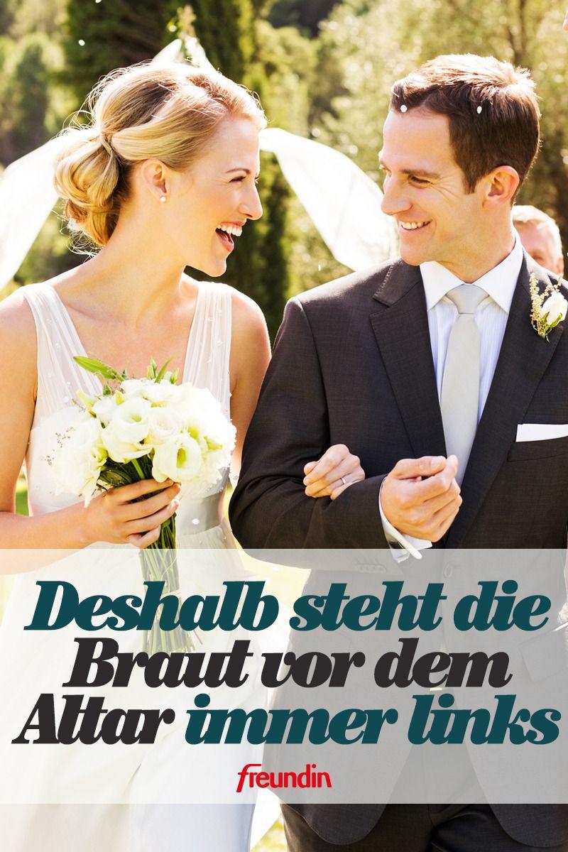 Warum Steht Die Braut Vor Dem Altar Immer Links Freundin De Hochzeitsarten Hochzeit Brauche Hochzeit