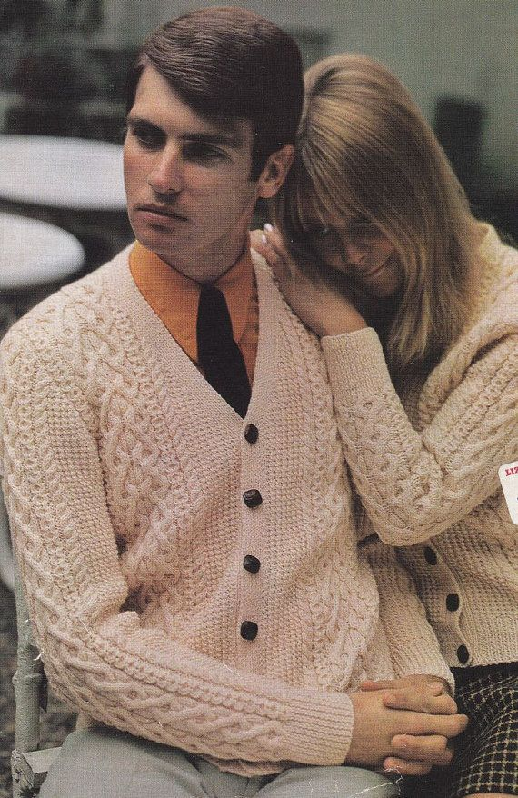 Aran Cardigan Knitting Pattern, His and Hers Sizes   Knit and ...