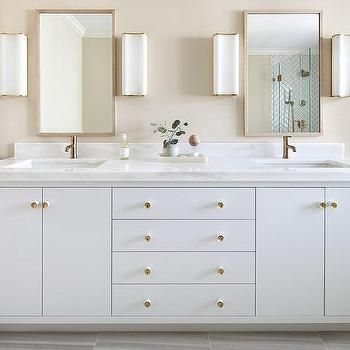 white and gold bathroom sconces | vanity, bathroom