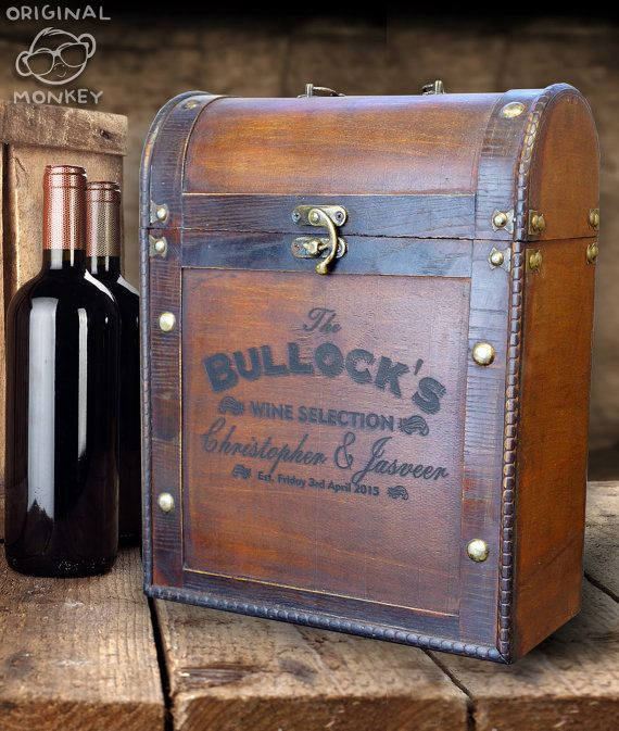 Personalised Wine Box Wedding Gift Antique By