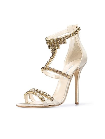 Sandals with strass detail,Oscar de la Renta