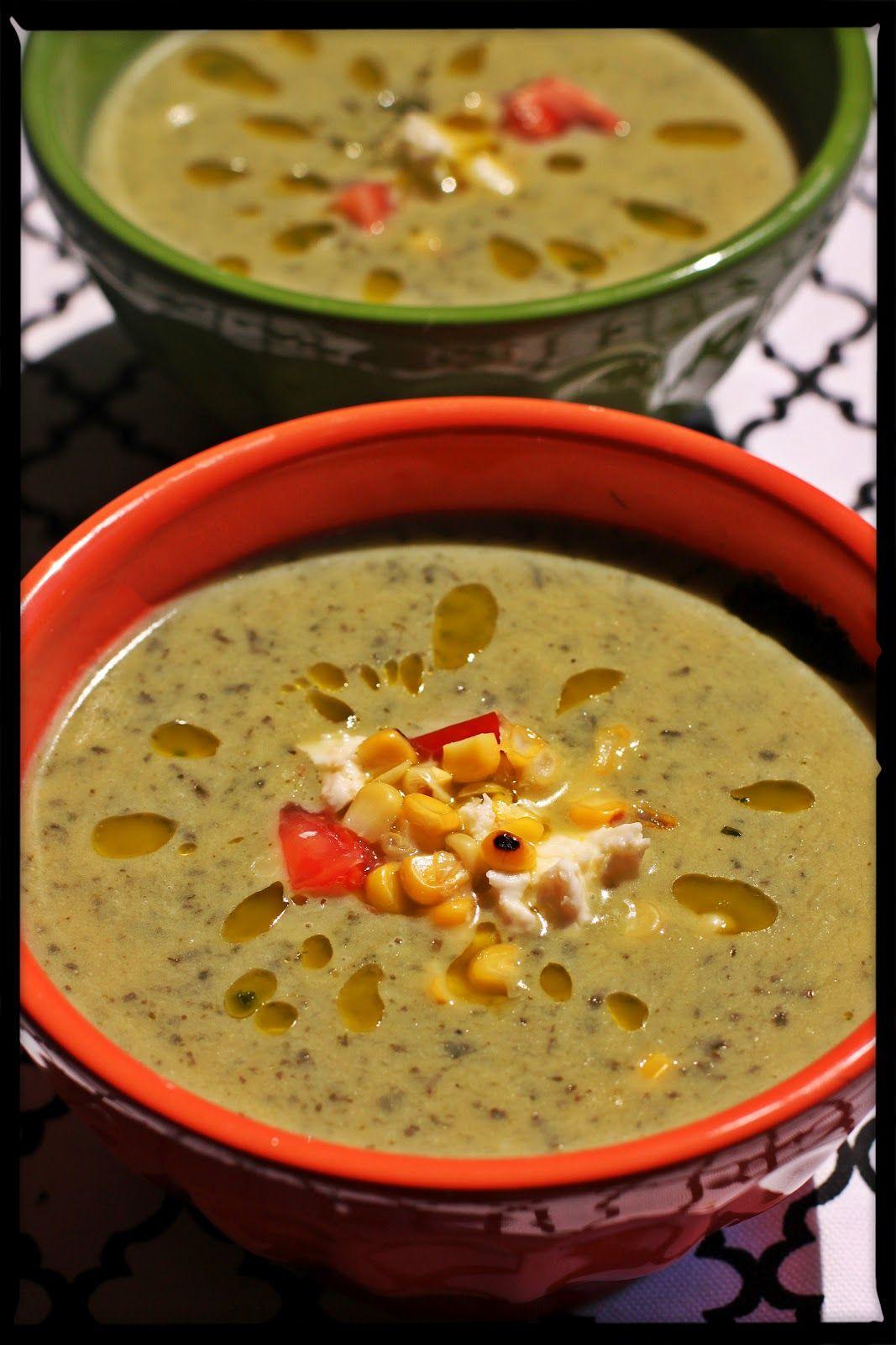 The Chickpea Chickadee: Roasted Poblano Soup