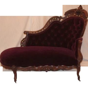 Recamier atribuido J. And J.W. Meeks -1850 Americano de palo de rosa ...