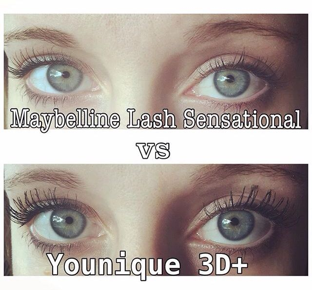 b8a95adf255 Younique 3d + vs Maybelline Lash Sensational! Who wins this face off? Order  your