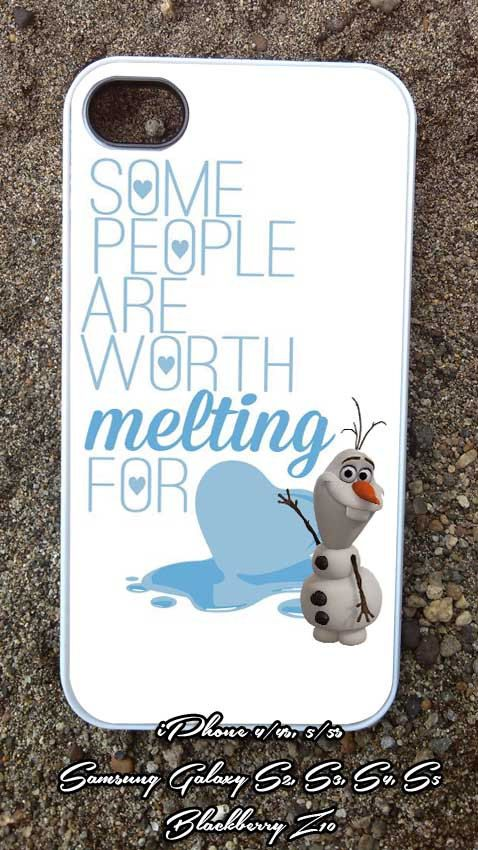 Olaf melting quote    iPhone 4/4s/5/5c/5s Case  by LOMBACUAPRES, $14.50