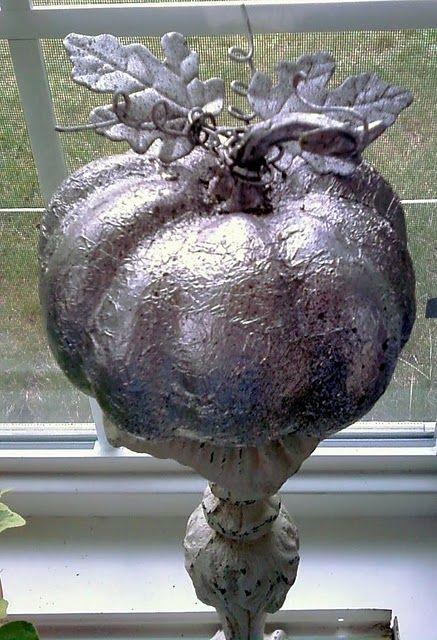 Faux Mercury Glass Pumpkins