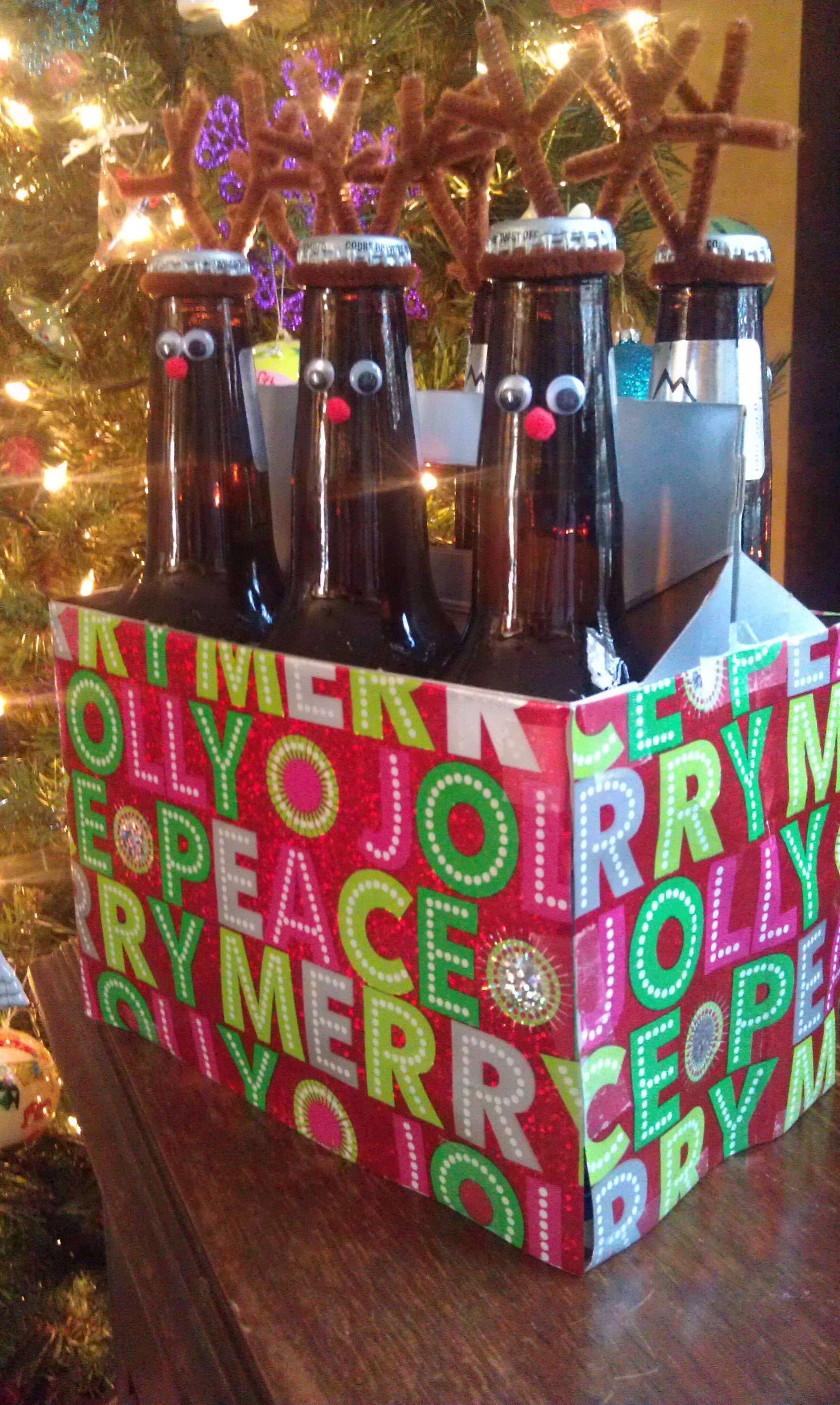 Reindeer Beer Http Kathleen S S S S S J I Think Im Going To Do This For Either Dad Or Jamie Reindeer Beer Christmas Gifts Holiday Fun