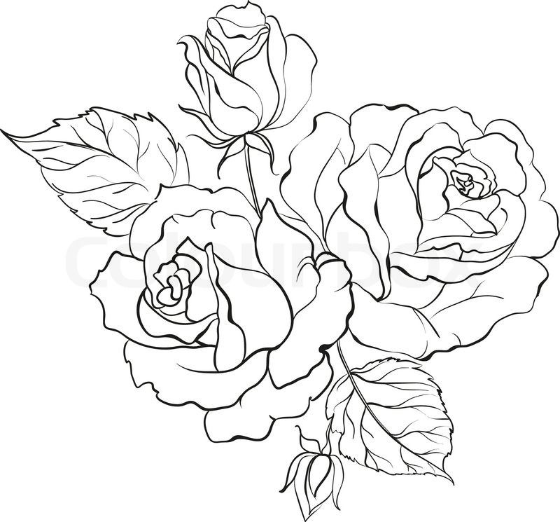 Bouquet clipart black and white, Bouquet black and white Transparent FREE  for download on WebStockReview 2020