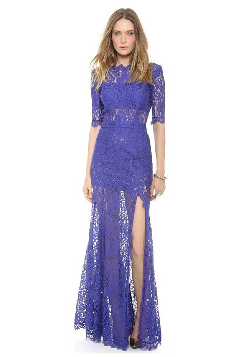 Charm life womenus long dress lace party dress want to know more