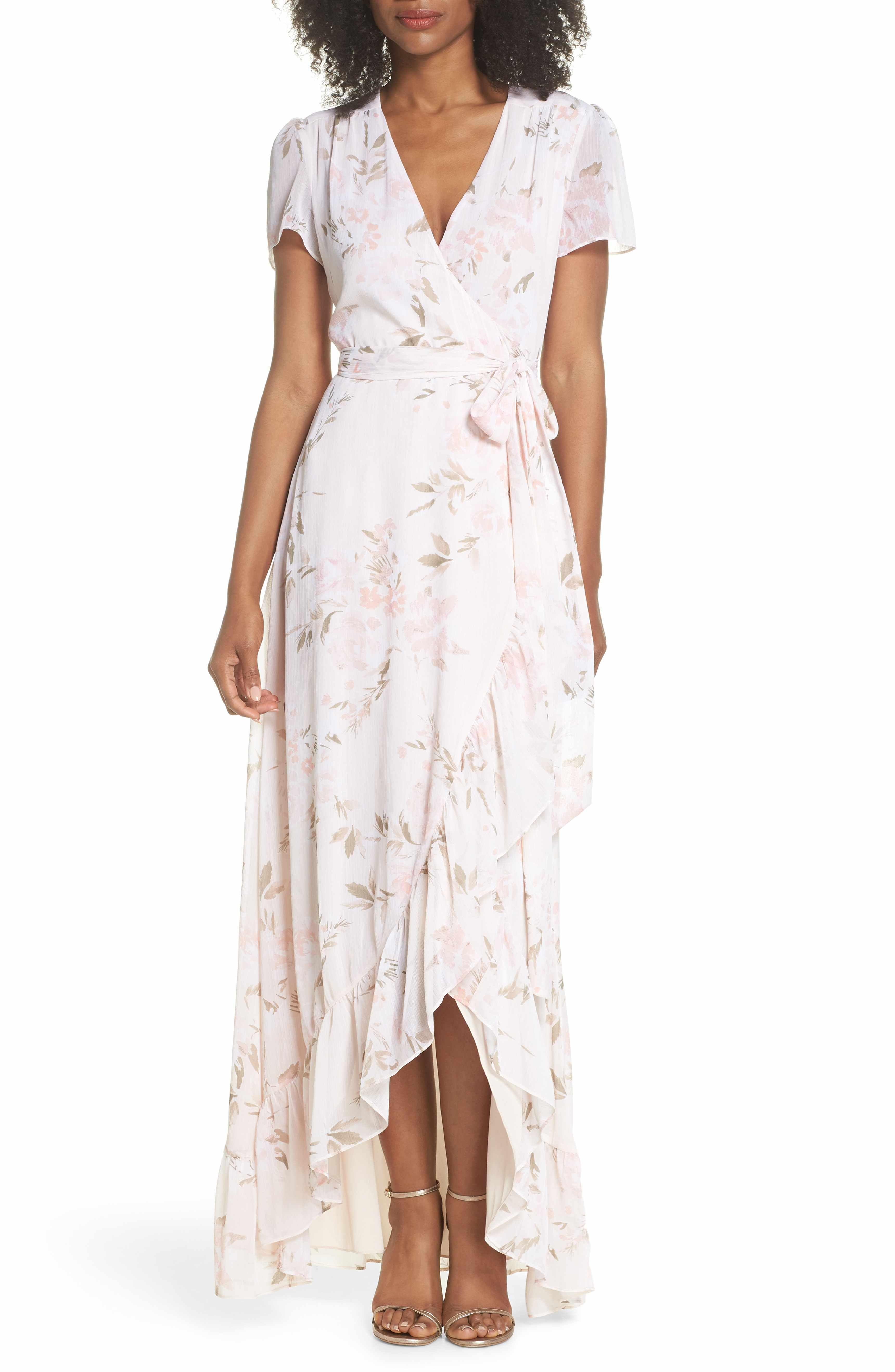 79a2c3854d WAYF The Natasha Floral Wrap Maxi Dress | Dresses | Maxi wrap dress ...