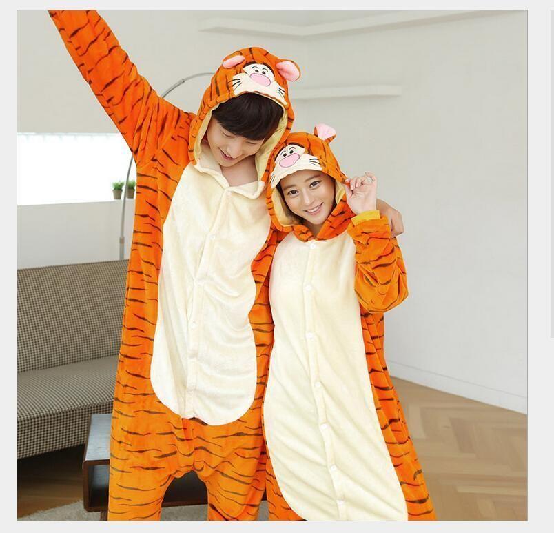 Hot Unisex Adult Pajamas Kigurumi Cosplay Costume Animal Sleepwear Christmas