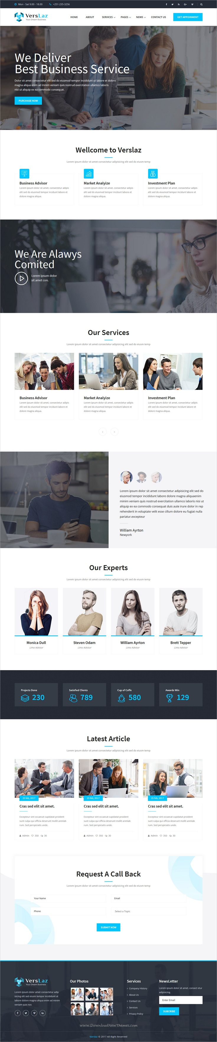 Verslaz - Business Consulting and Professional Services HTML ...