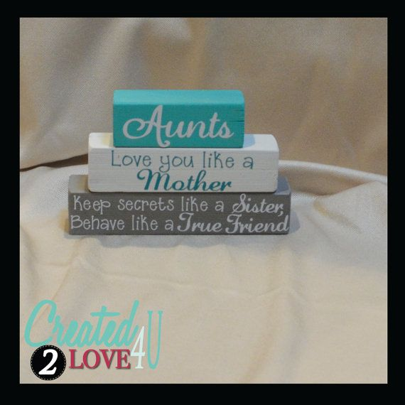 Perfect Gift For Aunts Wood Blocks For Your Aunt Aunt