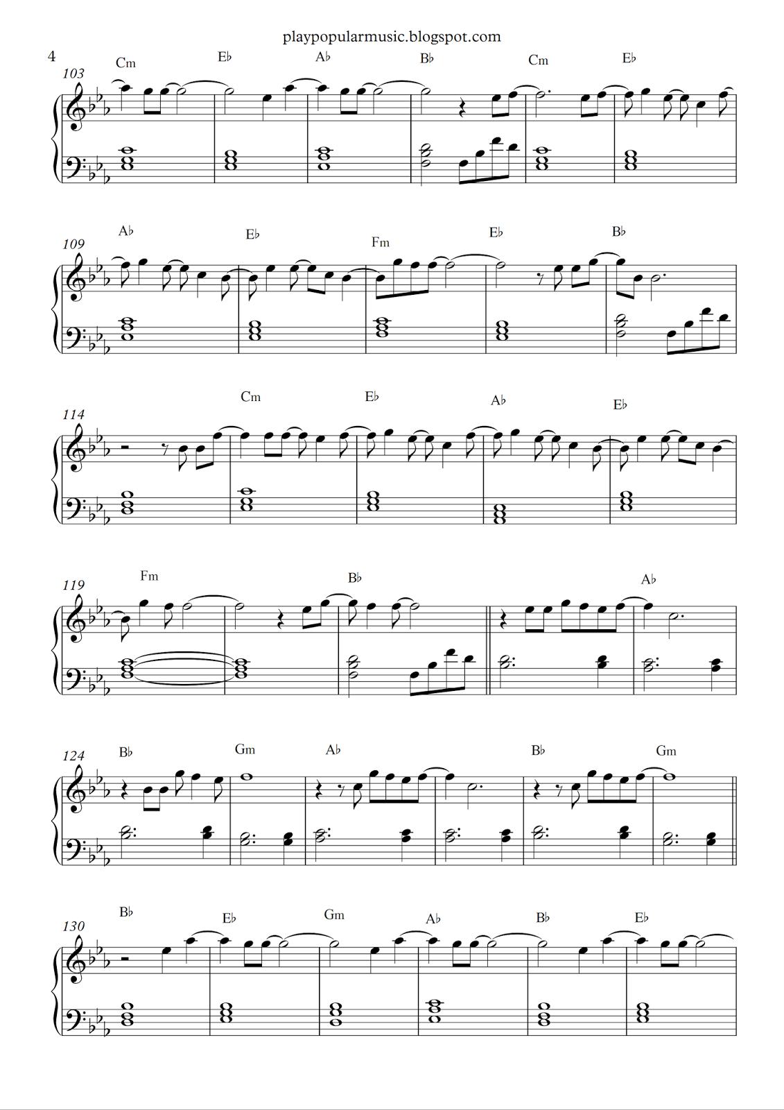 Free Piano Sheet Music Adele
