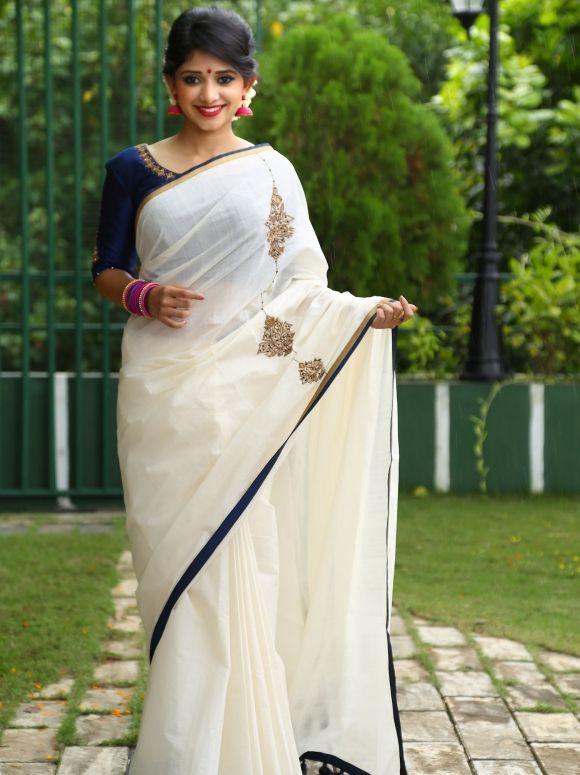 NAYANA Kerala Saree Set Saree Set Mundu Kerala Kasavu