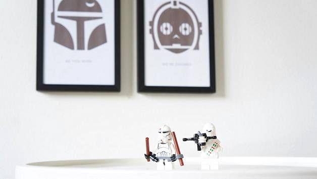 Nämä taulut sopivat takuulla Star Wars -fanin huoneeseen.