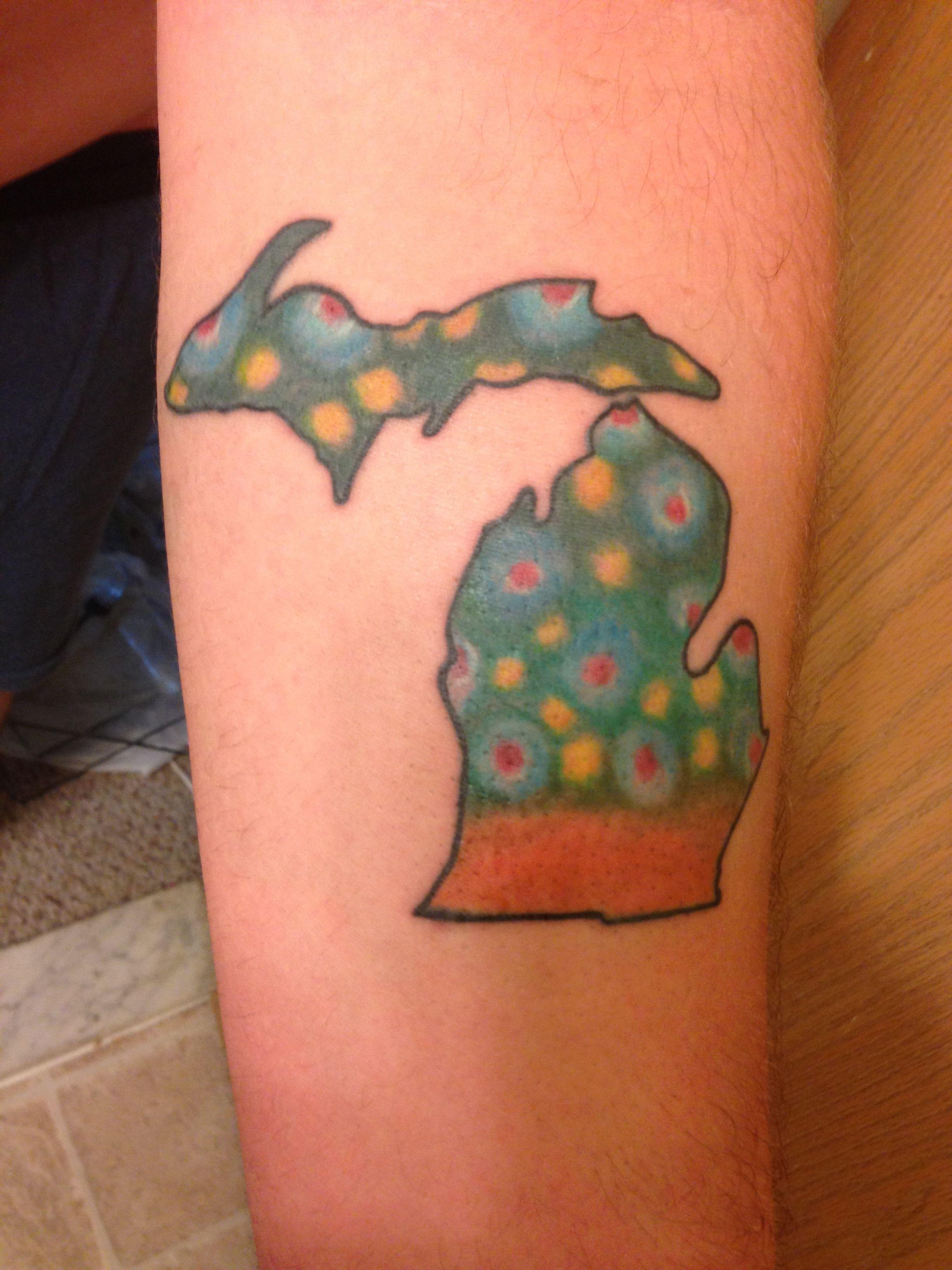 Michigan trout skin tattoo tattoos pinterest trout for Best tattoo artists in michigan