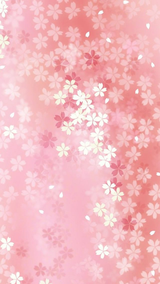 Pure Dreamy Pink Flower Pattern Background IPhone 5s Wallpaper
