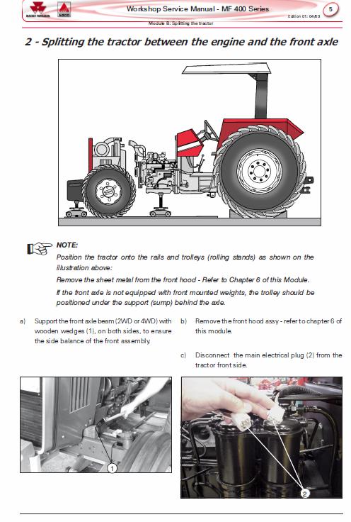 Massey Ferguson Mf 445 460 465 475 Tractor Service Manual Tractors Massey Ferguson Hydraulic Systems